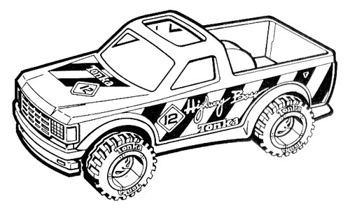 Tonka pickup truck illustration